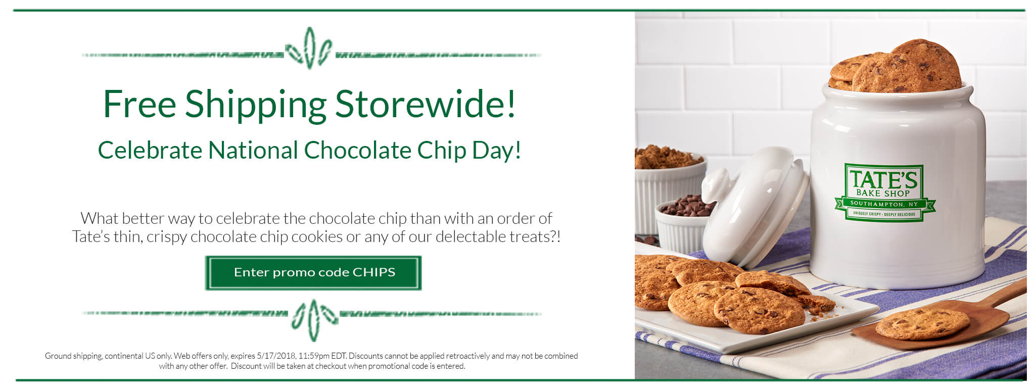 It's National Chocolate Chip Day! Free Shipping Storewide!