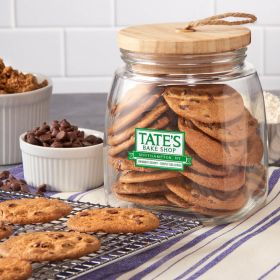 Tate's Bake Shop Glass Cookie Jar